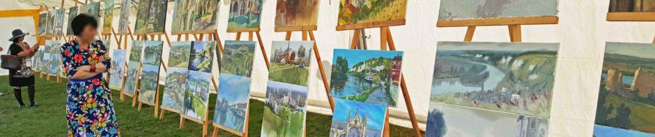 """exposition finale du 3eme festival de peinture en plein air """" Dans le Berceau de l'impressionnisme"""