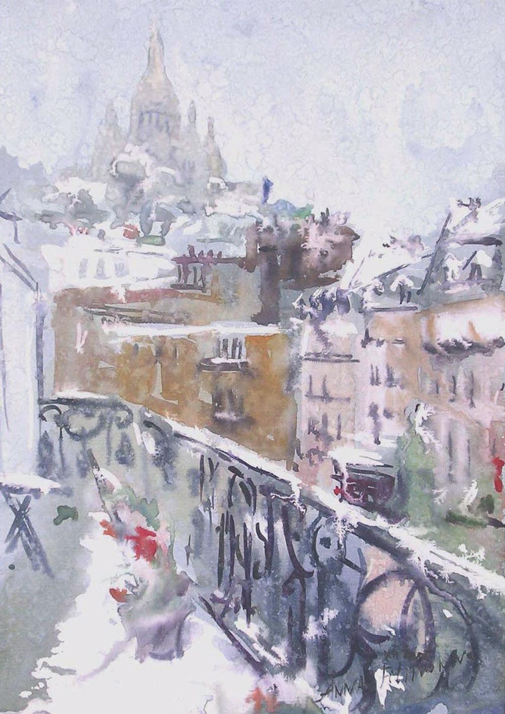 Place de Clichy sous la neige