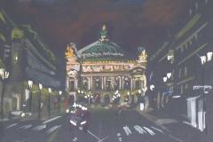 L'Opéra de Paris la nuit