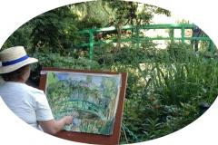 Anna Filimonova dans les Jardins de Claude Monet