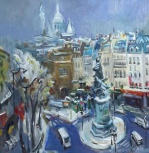 Anna Filimonova, Paris place Clichy sous la neige