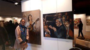 oeuves d'Anna Filimonova à l'exposition de l'Académie Boitat